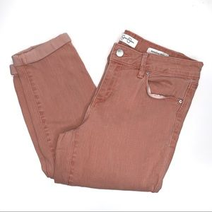 Jessica Simpson Rolled Crop Skinny Jeans Pink 6/28